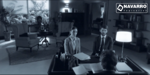 La Embajada Tapicerias Navarro sillon Danubio Melani Olivares y Raul Arevalo 300x150 - Fauteuils à TV séries - Antena 3